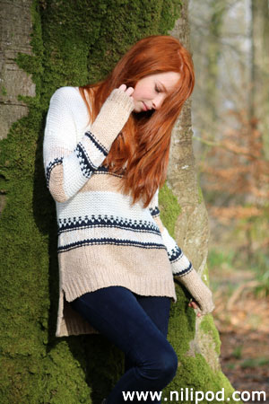 Picture of girl with knitwear jumper