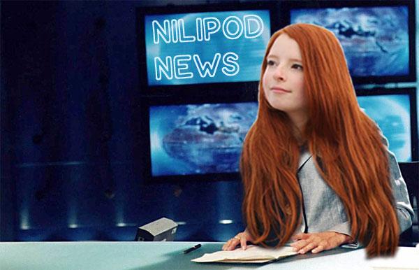Photo of newsreader reading the news