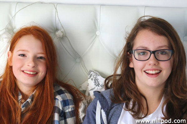 Photo of girls smiling for camera