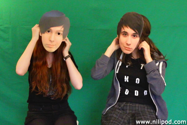 Picture of Dan and Phil masks