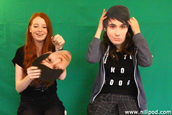Photo of girls dressed up as Dan and Phil