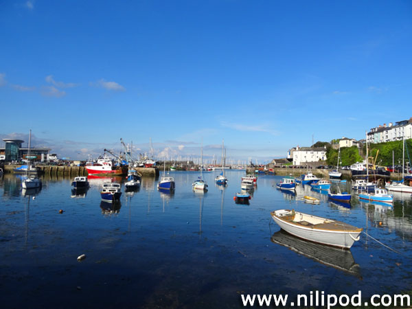 Photo of fishing harbour at Brixham