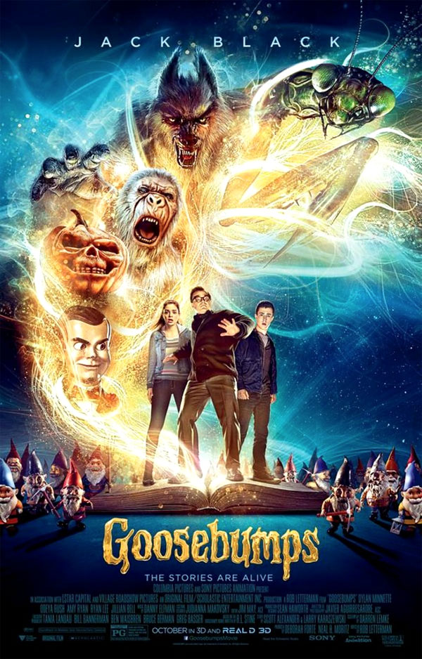 Image of the Goosebumps movie poster