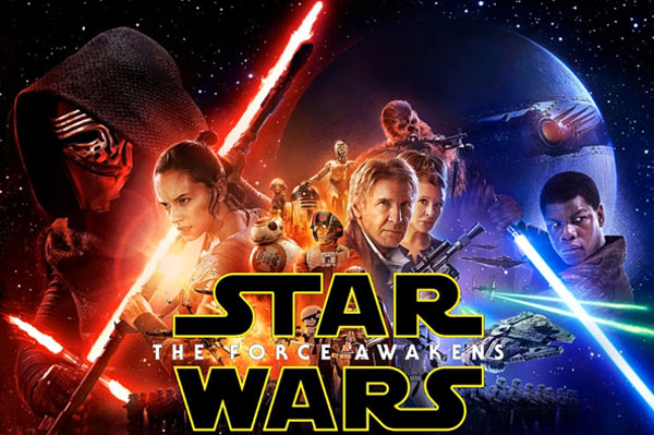 Image of the Star Wars Force Awakens movie poster