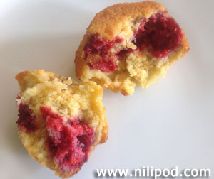 Image of raspberry muffin centre