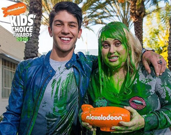 Photo of Rebel Wilson covered in green slime
