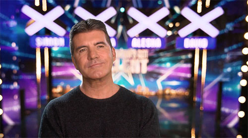 Photo of Simon Cowell on the Britain's Got Talent set
