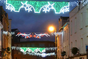 Picture of 'pants' Christmas lights in Tiverton