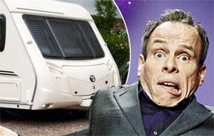 Warwick Davis and his stolen caravan