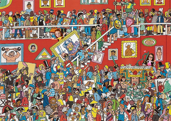 Where's Wally art gallery picture