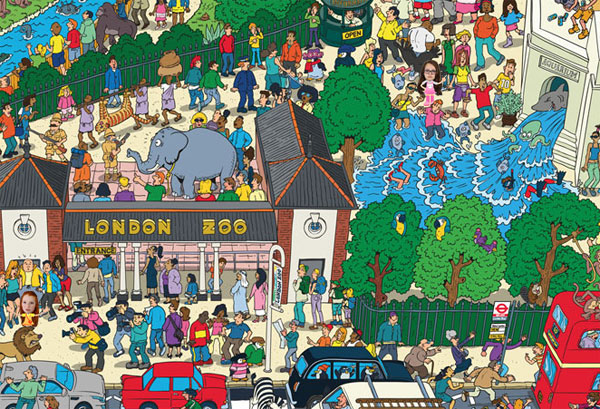 Where's Wally game in London Zoo