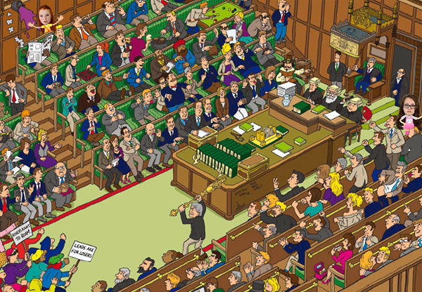 Where's Wally game in the Houses of Parliament
