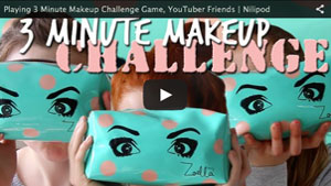 Playing 3 Minute Makeup Challenge Game, YouTuber Friends