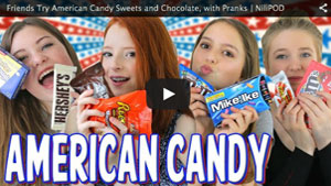 Friends Try American Candy Sweets and Chocolate, with Pranks