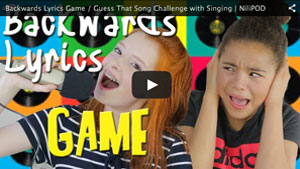 Backwards Lyrics Game / Guess That Song Challenge with Singing