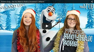 A Sing Song with Anna and Elsa, in Disney's Frozen