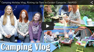 Camping Holiday Vlog, Putting Up Tent in Garden Campsite