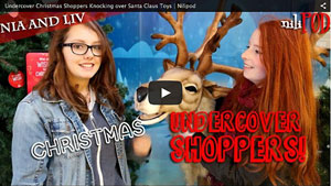 Undercover Christmas Shopping with the Toy Santa Dominoes