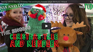 Our Dancing Christmas Tree and Singing Reindeer