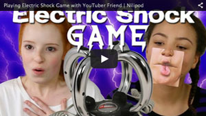 Playing Electric Shock Game with YouTuber Friend