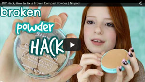 DIY Hack, How to Fix a Broken Compact Powder