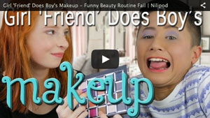 Girl 'Friend' Does Boy's Makeup - Funny Beauty Routine Fail
