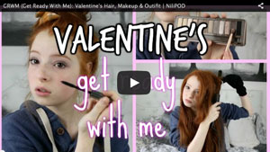 GRWM (Get Ready With Me): Valentine's Hair, Makeup and Outifit