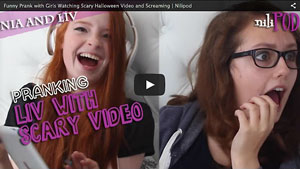 Pranking Liv with the Scary Halloween Video