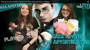 Harry Potter vs Adventure Time Challenge - Nia vs Liv