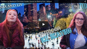 Ice Skating at an Outdoor Ice Rink