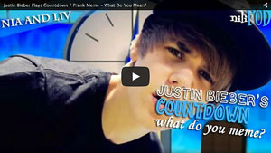 What is Justin Bieber Doing on Countdown?
