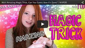 Nia Performing an Amazing Magic Trick