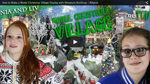 How to Make a Model Christmas Village