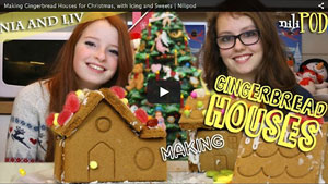 Making Our Small Gingerbread House Village at Christmas