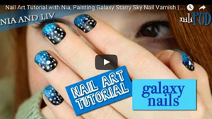 Nail Art Tutorial With Nia, Painting Galaxy Nails with Night Sky and Stars