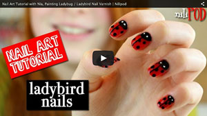 Nail Art Tutorial With Nia, Painting a Ladybird Design with Spots