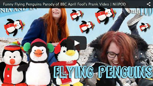 Our Parody Version of BBC April Fool's Day Prank with Flying Penguins