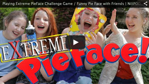Playing Extreme PieFace Challenge Game / Funny Pie Face with Friends