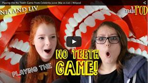 No Teeth Game (like on Celebrity Juice) - Nia vs Liv