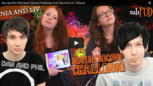 Playing the Seven Second Challenge with Dan and Phil