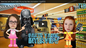 Our Interview with Cartoon Darth Vader in the Supermarket - Star Wars Animation