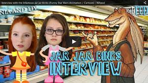 Our Interview with Cartoon Jar Jar Binks in the Supermarket - Star Wars Animation