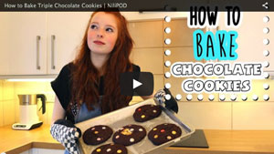 How to Bake Triple Chocolate Cookies