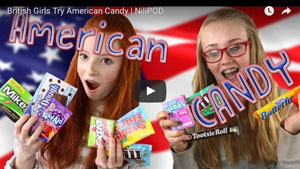 Tasting American candy