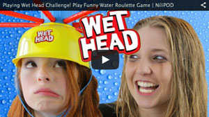 Playing Wet Head Challenge! Play Funny Water Roulette Game