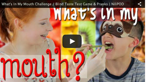 What's In My Mouth Challenge / Blind Taste Test Game & Pranks