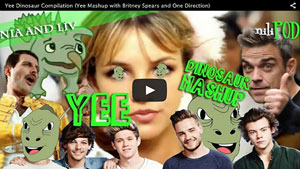 Yee Dinosaur Megamix Mashup with Britney Spears, One Direction and More