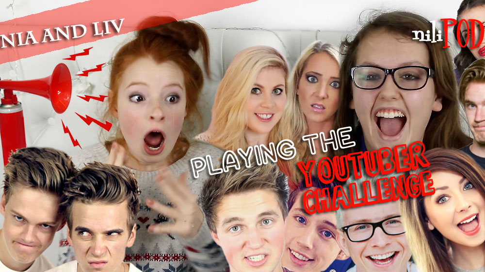 Anorther YouTuber game title image, with Dan and Phil, Zoella and more