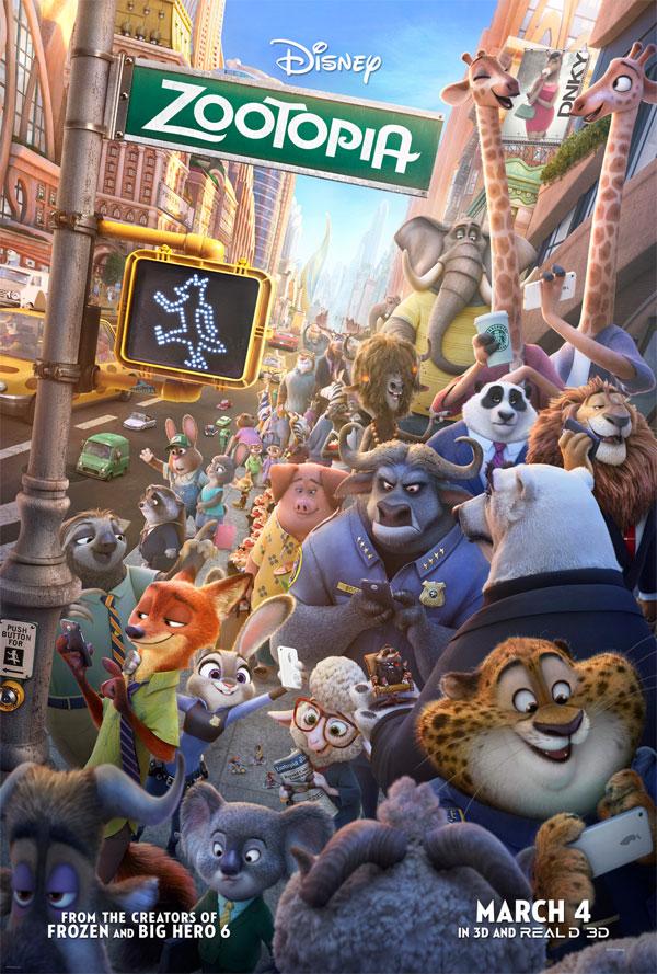 Image of the Zootropolis / Zootopia movie poster